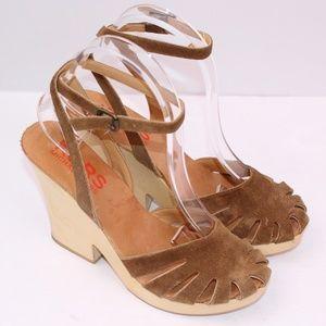 Michael Kors Sling Back Leather Block Heel Sandals